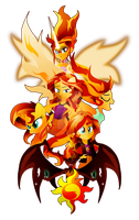 The Many Many Forms of Sunset Shimmer by II-Art
