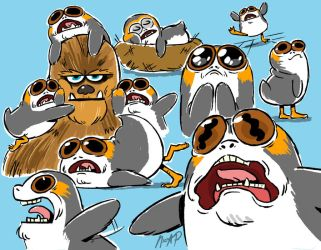 Screamin Porgs by NicParris