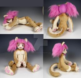 Custom Cat Anthro Plush by WhittyKitty