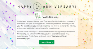 One year by Volt-Draws