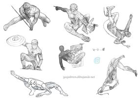 Spiderman sketches by Fractalico