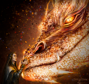 Thalos and Smaug by Kaprriss