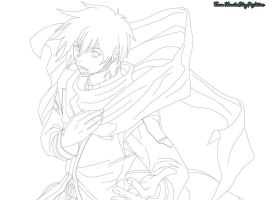 Kaito: Vocaloid Lineart(Not For Free Use) by Levi-Ackerman-Heicho
