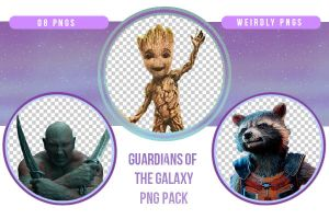 Guardians of the Galaxy PNG Pack by Weirdly-PNGS