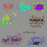 Demi songs PNG by likeeasoong