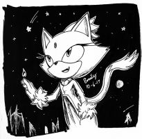 Inktober #6 Blaze (again) by Tri-shield