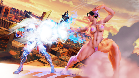 Chun-li Rough Work by gatoradepanda