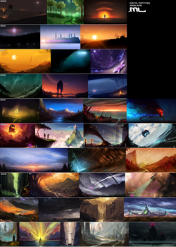Digital Landscapes 2009 to 2016 by MLeth