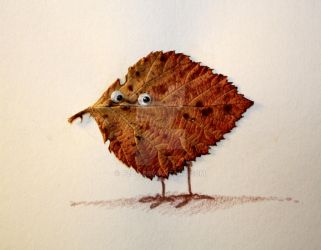 leaf  bird by pzla