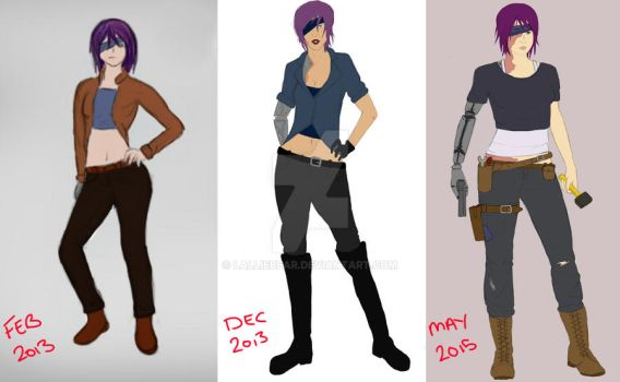 Evolution of Arianne by Lalliebear