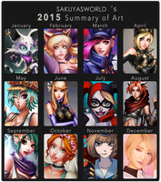 Sakuyasworld's 2015 Summary of Art Meme by sakuyasworld