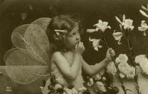 Vintage little girl with wings I by MementoMori-stock