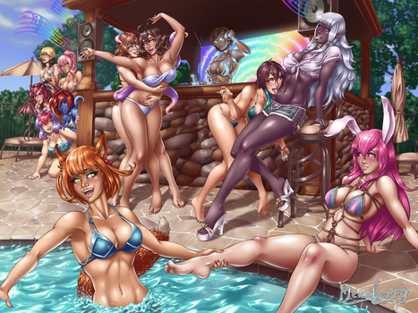 A Wet and Wild Party for Subs by Mezzberry