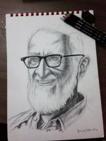 DR.Salem Ali pencil portrait by YousefShoukry