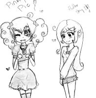 MLP: Pinky Pie and Flutter Shy by EmiAnimeOriginal