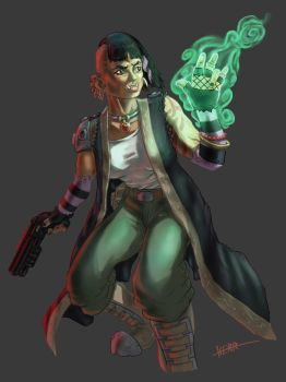 Shadowrun ~ Ork Combat Mage by Thewog