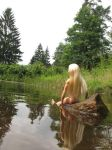 Thranduil is bathing in a forest lake 2 by Menkhar