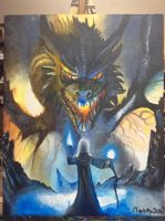 Dragon painting (FINISHED!!!!!!!!!) by Pokemonlover777
