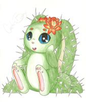 CactusBunny Gift: Colored Pencil by SometimesCats