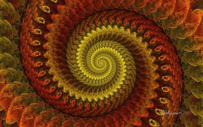 Copper Disc3D Spiral by wolfepaw