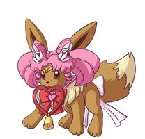 Chibimoon Eevee by faeore