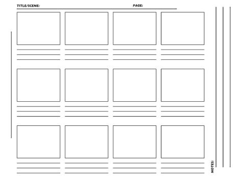 Storyboard Charts And Other Templates Favourites By