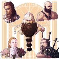 Commission: Dwarves by StefanoMarinetti