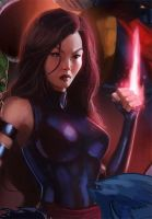 Psylocke by pinkhavok