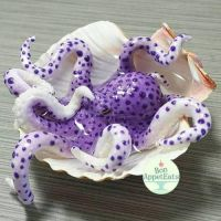 Commission- Realistic Purple Octopus Seashell Pond by Bon-AppetEats