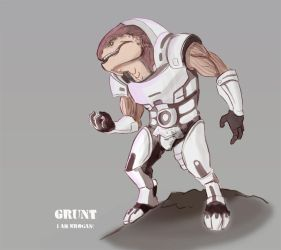 Mass Effect Grunt by macawnivore