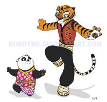 Tigress and Lei Lei by Kordyne