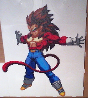 Vegeta SSJ4 (Mini-Beads) by FTWBAmanojaku