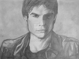 Vampire Diaries: Damon by xBarnowlx