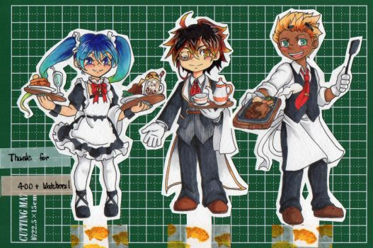 Maid and Butlers at service! by crazytreasurestudio