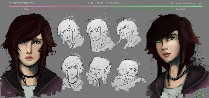 Leah Facial Expressions by CatCouch