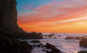 Sunset Cliff by K1ntar