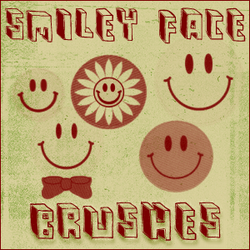 smiley face brushes by chokingonstatic