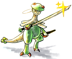 Shroomsworth with his Cane-sword by Haychel