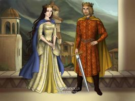 Arthur and Guinevere by loverofbeauty