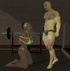 Gym Captive by cattle6