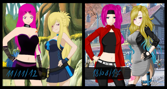 |Open Collab| 5 years comparison - 2012/2017 by BlueLightningHikachu