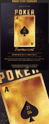 Poker Tournament Flyer Template by Hotpindesigns