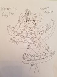 Inktober 2018 Day One- Toudou Yurika by GrandPrintemps