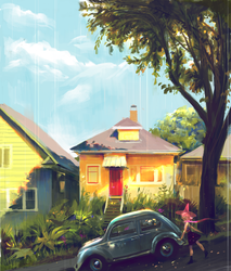 Suburbia + witch by Vetyr
