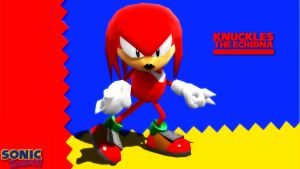 (MMD/FBX Model) Knuckles the Echidna Classic DL by SAB64