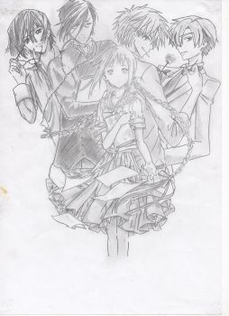 Doujinshi Cover Sketch Asami's Adventure by SquishyCommishies