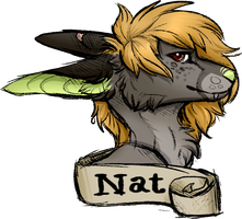 [Gift]Sketchy Nat Badge by Sae-Fang