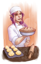 Commission - Yolanda the Baking Elf by MichaelMayne