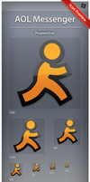 Icon AOL Messenger by ncrow