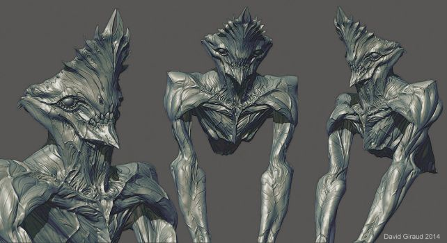 Crowned alien zbrush by mojette